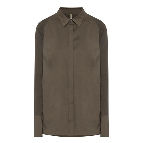 Elsa Ribbed Sleeve Shirt, ${color}