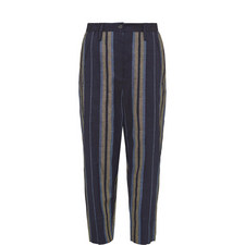 Cropped Stripe Trousers