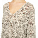 Ribbon Knit V-Neck Sweater, ${color}