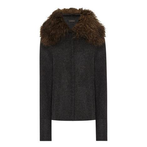 Pao Faux Fur Trim Jacket, ${color}