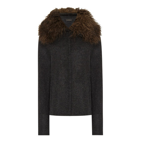 Pao Faux Fur Trim Jacket, ${color}