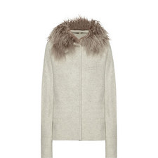 Shearling Collar Wool Jacket