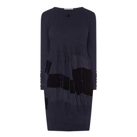 Upstage Velvet Panel Dress, ${color}