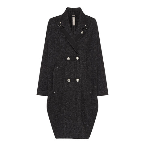Double Breasted Marl Coat, ${color}