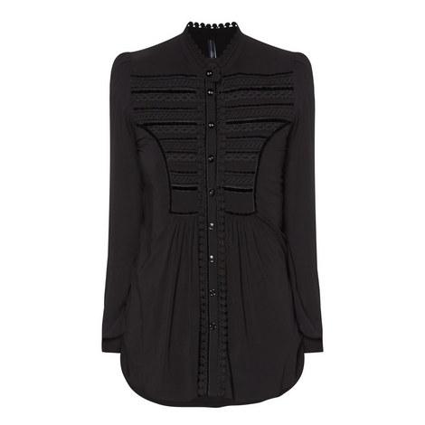 Camicia Velvet Trim Blouse, ${color}