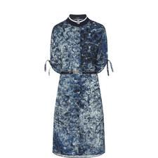 Print Eyelet Dress