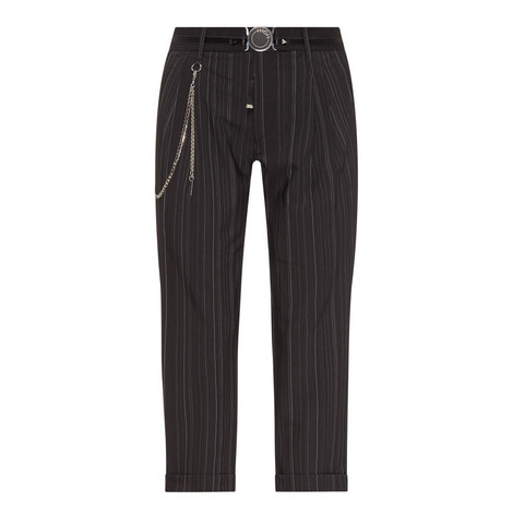 Courage Cropped Pinstripe Trousers, ${color}
