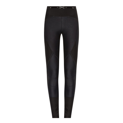 Lay Out Belted Panelled Leggings, ${color}