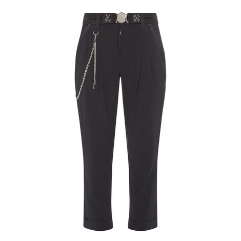 Courage Zip Detail Trousers, ${color}
