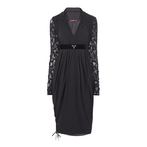Troupe Lace Sleeve Dress, ${color}