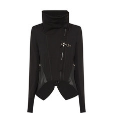 Funnel Neck Asymmetrical Jacket