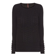 Fret Long Sleeve Top