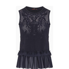 Sleeveless Knitted Lace Top