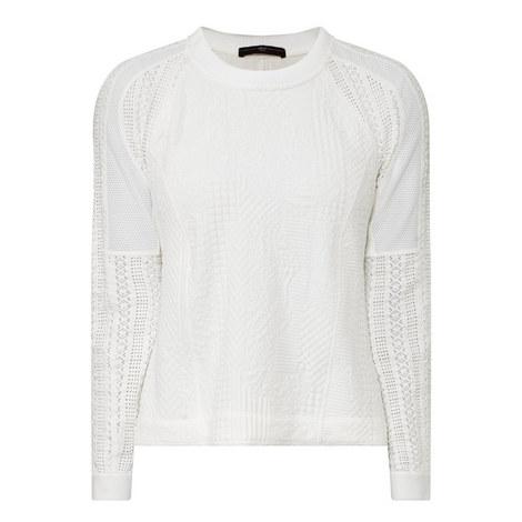 Optima Eyelet Sweater, ${color}