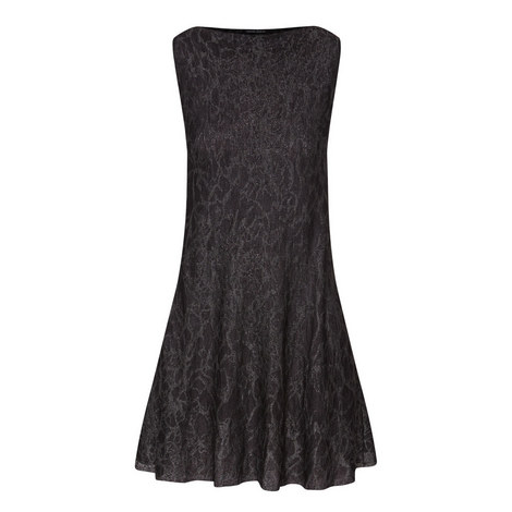 Sleeveless Lurex Patterned Dress, ${color}