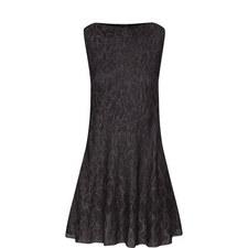 Sleeveless Lurex Patterned Dress