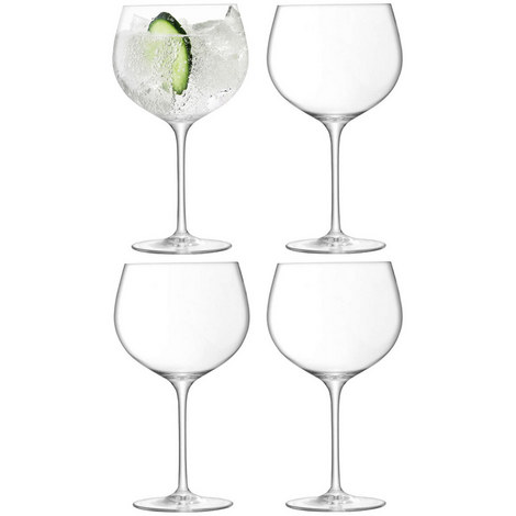 Set Of 4 Balloon Gin Glasses, ${color}