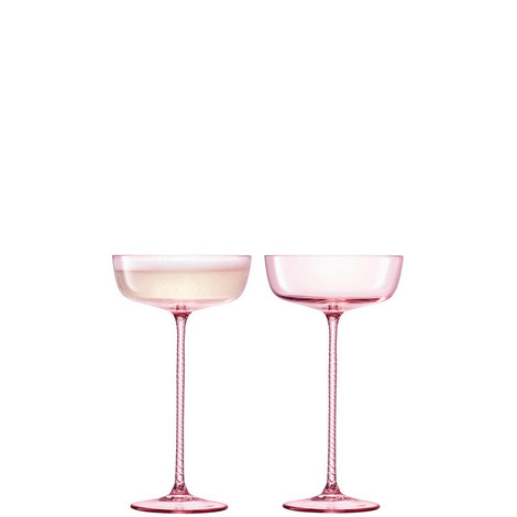 Set of 2 Champagne Saucers, ${color}