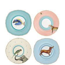 Cake Plates Set of 4