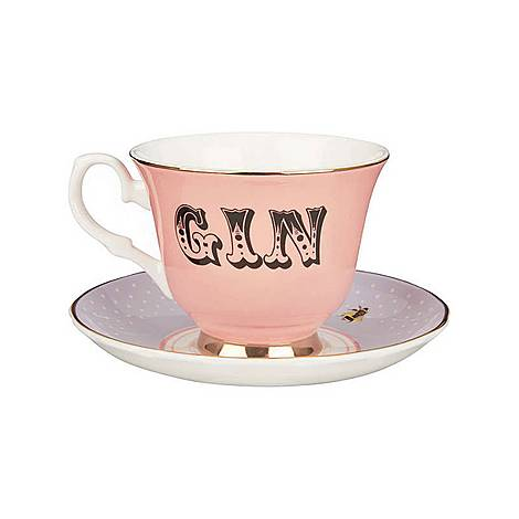 Pastel Gin Tea Cup and Saucer, ${color}