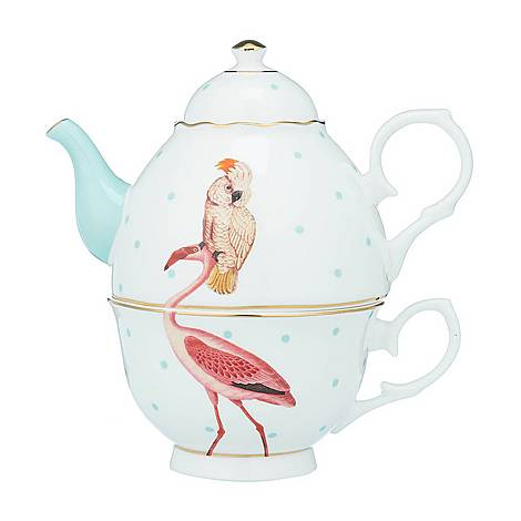 Parrot and Flamingo Tea For One Teapot, ${color}