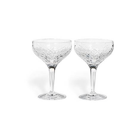 Barwell Cut Crystal Champagne Coupe Set of Two, ${color}