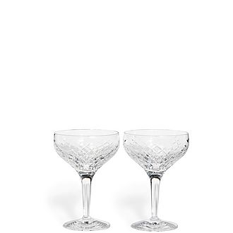 Barwell Cut Crystal Champagne Coupe Set of Two