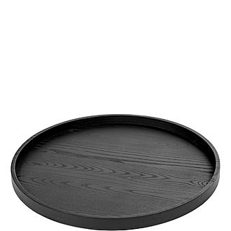 Round Wooden Serving Tray