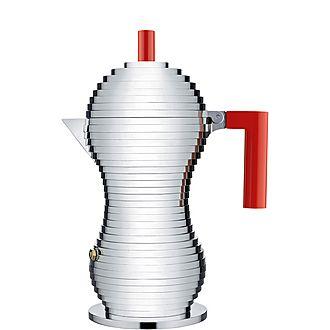 Pulcina Espresso Maker and Six Cups