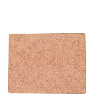 Square Leather Table Mat Large