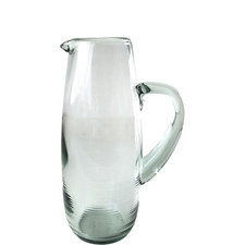 Rippled Glass Pitcher