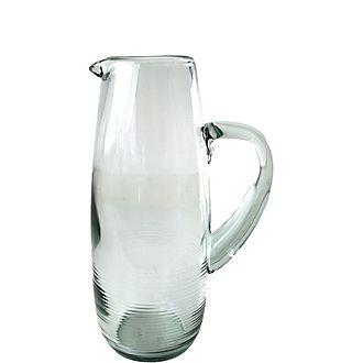 Rippled Glass Pitcher
