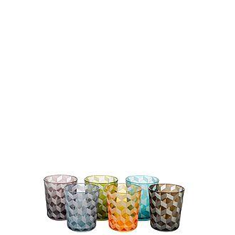 Set of Six Blocks Tumblers