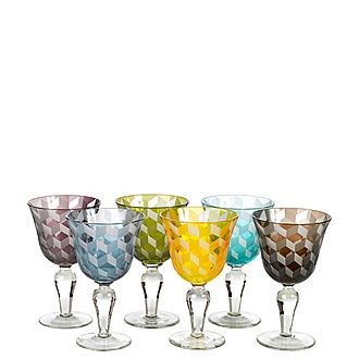 Set of Six Blocks Wine Glasses