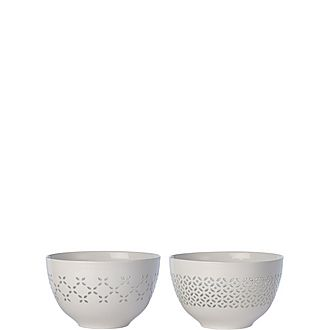Set of Two Pierced Bowls