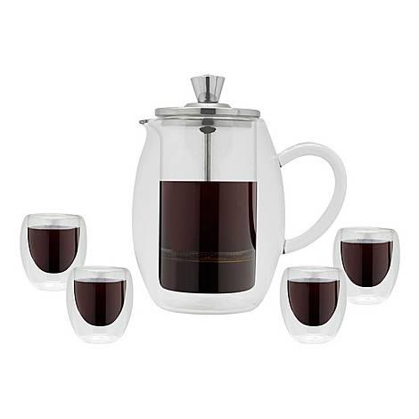 Cafetiere & Glasses Set, ${color}