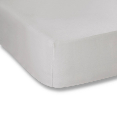 200 Thread Count Fitted Sheet Grey, ${color}