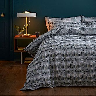 Abstract Duvet Set Grey