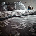 Leaf Duvet Set Grey, ${color}