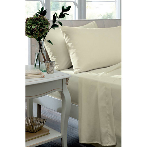Percale 200 Thread Count Flat Sheet, ${color}