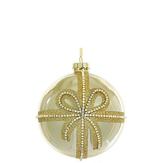 Ribbon Jewelled Bauble