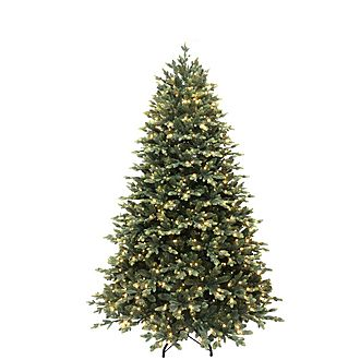 7.5ft Pre-Lit Memory Wire Christmas Tree
