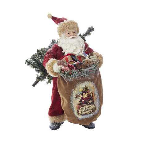 Antique-Style Santa Ornament, ${color}