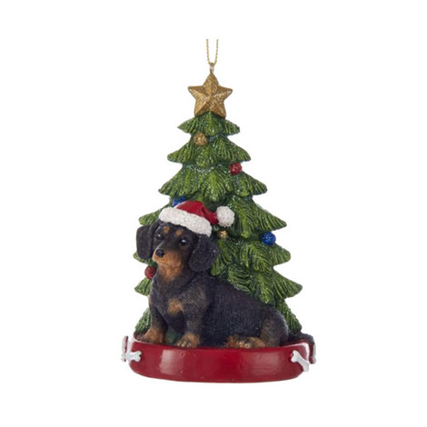 Dachshund Hanging Tree Decoration, ${color}