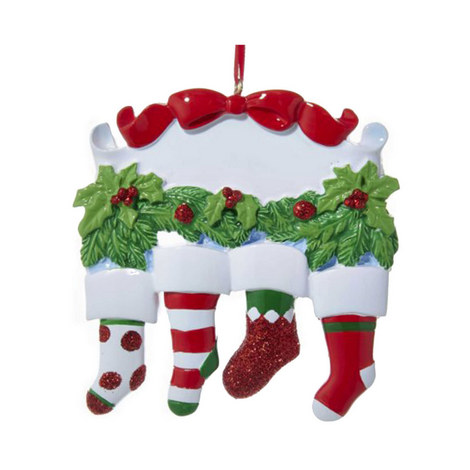 Family Stocking Hanging Decoration, ${color}