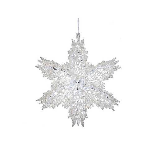 White Snowflake Tree Decoration, ${color}