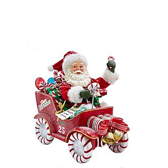 Music Santa Car Tree Decoration