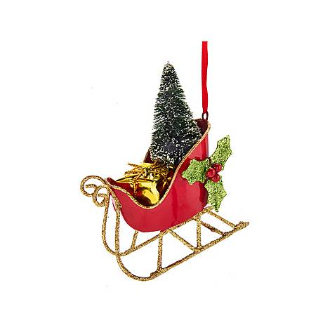 Sleigh Tree Decoration, ${color}