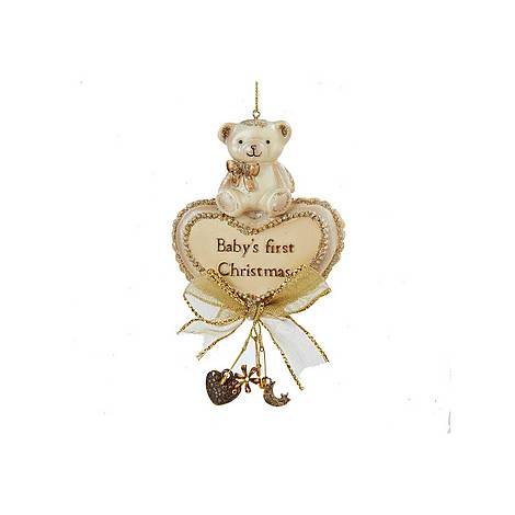 Baby's First Christmas Bear Tree Decoration, ${color}