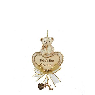 Baby's First Christmas Bear Tree Decoration